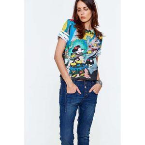 T-SHIRT Tee Shirt Eleven Paris Dismous Multicolore Femme