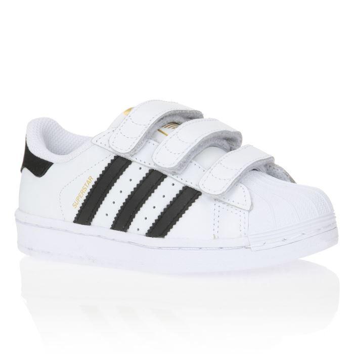 adidas originals baskets superstar enfant gar on blanc et noir achat vente basket soldes. Black Bedroom Furniture Sets. Home Design Ideas
