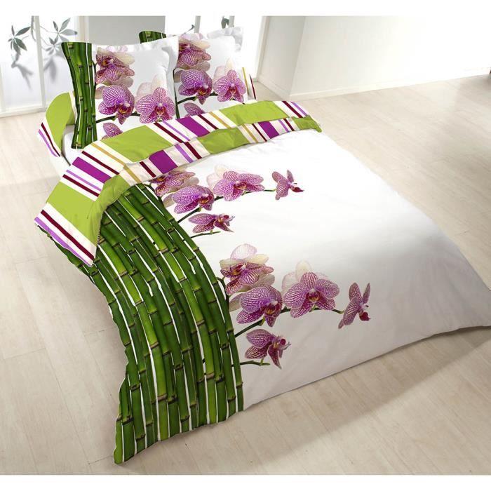 Parure de lit orchidee achat vente parure de lit orchidee pas cher les - Parure de lit violetta pas cher ...