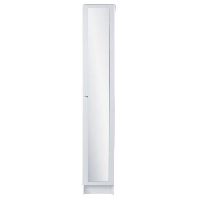 Slash colonne 1 porte 29 5 cm d cor blanc achat vente - Colonne rangement plastique ...
