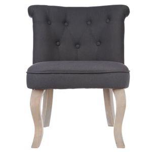 Fauteuil crapaud gris achat vente fauteuil crapaud gris pas cher les so - Fauteuil crapaud lin gris ...