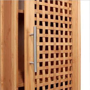 Colonne salle de bain bois achat vente colonne salle for Colonne salle de bain en bambou