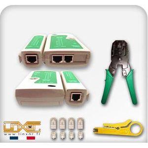 Pince a sertir rj45 prix pas cher cdiscount - Testeur cable rj45 ...