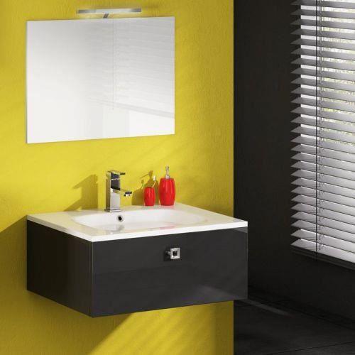 meuble simple vasque cristal anthracite 90 vogue discac achat vente meuble vasque plan. Black Bedroom Furniture Sets. Home Design Ideas