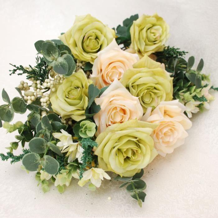 1 x bouquet de fleurs artificielles ros d co mariage achat vente fleur a - Bouquet de rose artificielle ...