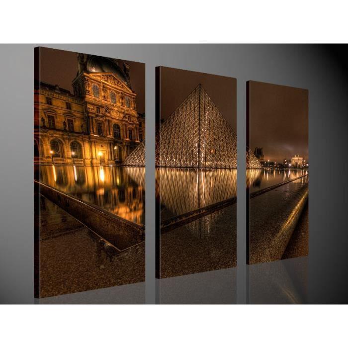 Tableau moderne imprim 130x80 louvre achat vente tableau toile cdi - Vente tableau moderne ...