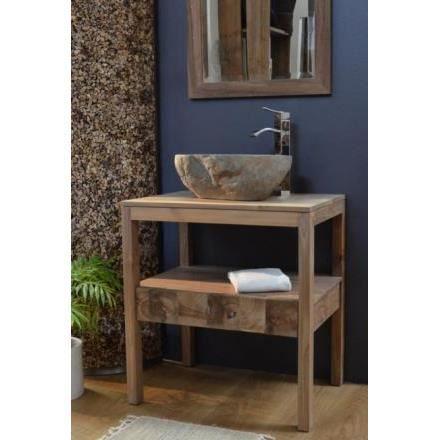 Meuble de salle de bain wood l70 achat vente salle de bain complete meubl - Meuble de salle de bain cdiscount ...