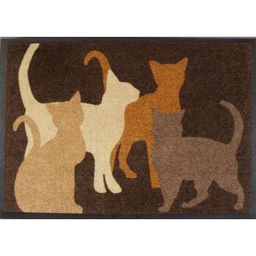 akzente wolf 30007 paillasson motif chats marron 75 x 120 cm achat vente paillasson. Black Bedroom Furniture Sets. Home Design Ideas