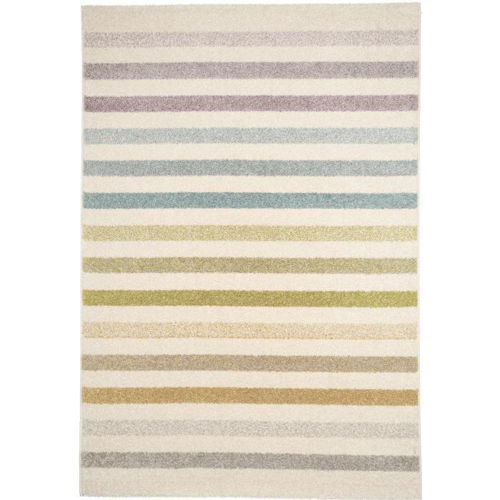 benuta tapis pastel striped beige 160x230 cm achat vente tapis cdiscount. Black Bedroom Furniture Sets. Home Design Ideas