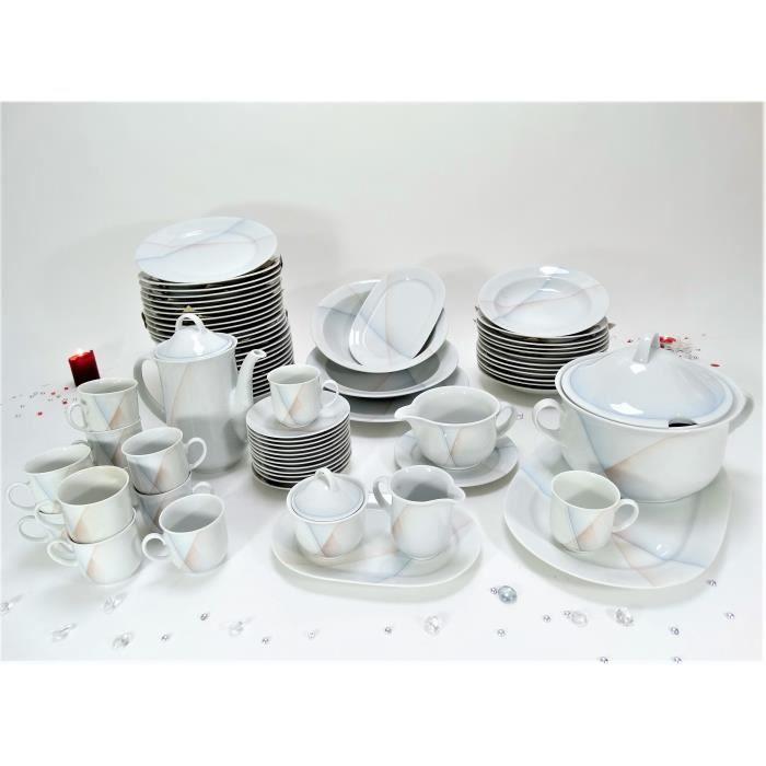 Service De Table Et Dessert Vaisselle En Porcelaine De