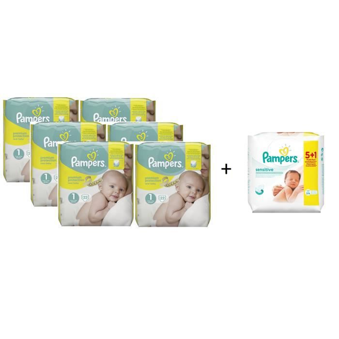 pampers premium protection new baby taille 1 newborn 2 5kg. Black Bedroom Furniture Sets. Home Design Ideas
