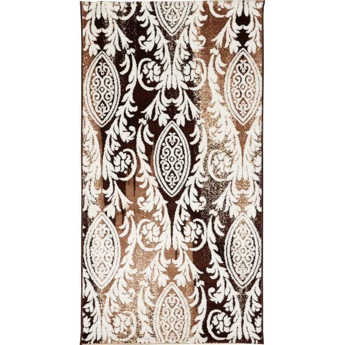 Tapis moderne tapis de salon a rond en polypropyl ne for Salon discret