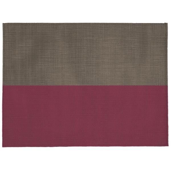 Set de table rectangulaire bi colore taupe rose achat for Set de table rectangulaire