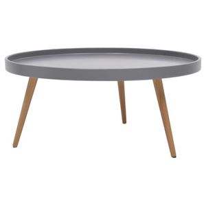table basse ronde pieds en bois achat vente table. Black Bedroom Furniture Sets. Home Design Ideas
