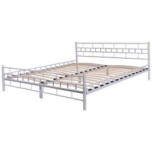 cadre de lit 140x200 achat vente cadre de lit 140x200 pas cher cdiscount. Black Bedroom Furniture Sets. Home Design Ideas