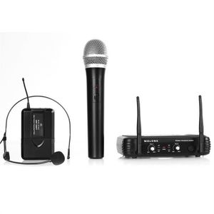 MICROPHONE - ACCESSOIRE Malone UHF-250 Duo 2 canaux set micro UHF sans fil