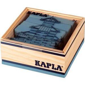 ASSEMBLAGE CONSTRUCTION KAPLA Coffret Bois 40 Planchettes - Bleu Clair
