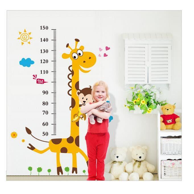 Cuisine mur sticker enfant mesurant la hauteur de 1 8 - Stickers cuisine enfant ...