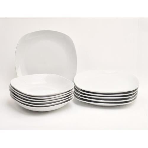 service de table assiette 12 pieces 6 personnes achat. Black Bedroom Furniture Sets. Home Design Ideas