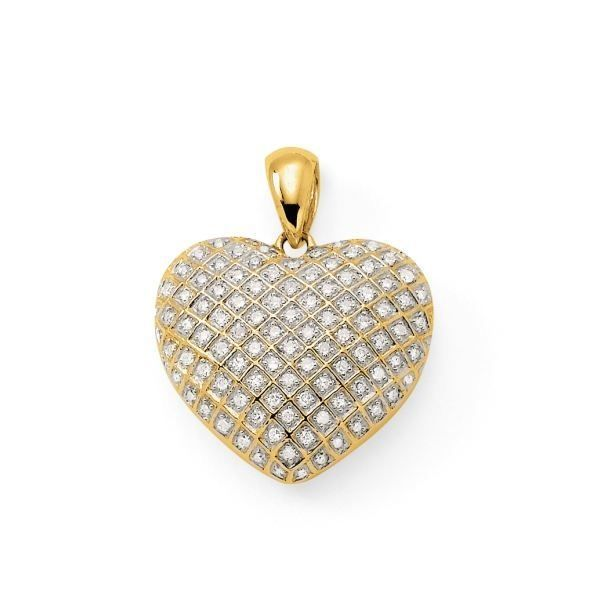 pendentif coeur or gr diamant ct achat vente pendentif vendu seul pendentif or. Black Bedroom Furniture Sets. Home Design Ideas
