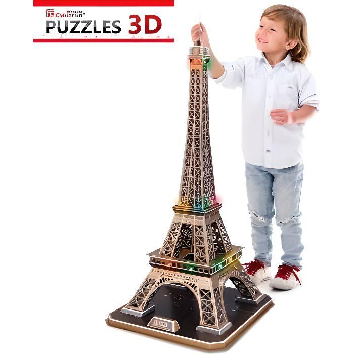 Puzzle 3d avec led la tour eiffel difficult achat vente puzzle c - Dimensions de la tour eiffel ...