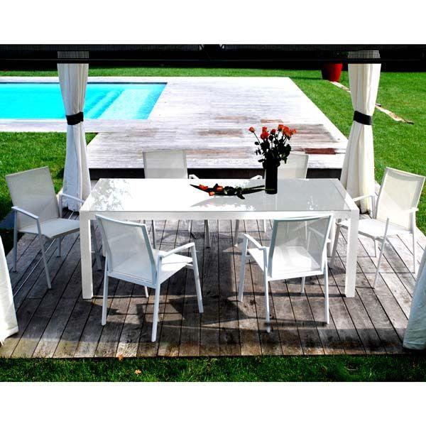 Salon De Jardin Alu Textil Ne 6 Places Blanc Sp Achat Vente Salon De Jardin Salon De Jardin