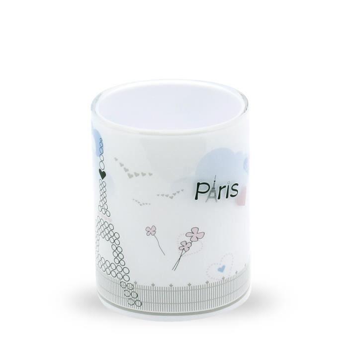 Tatkraft paris mademoiselle 3d gobelet salle de bain for Accessoires de salle de bain paris
