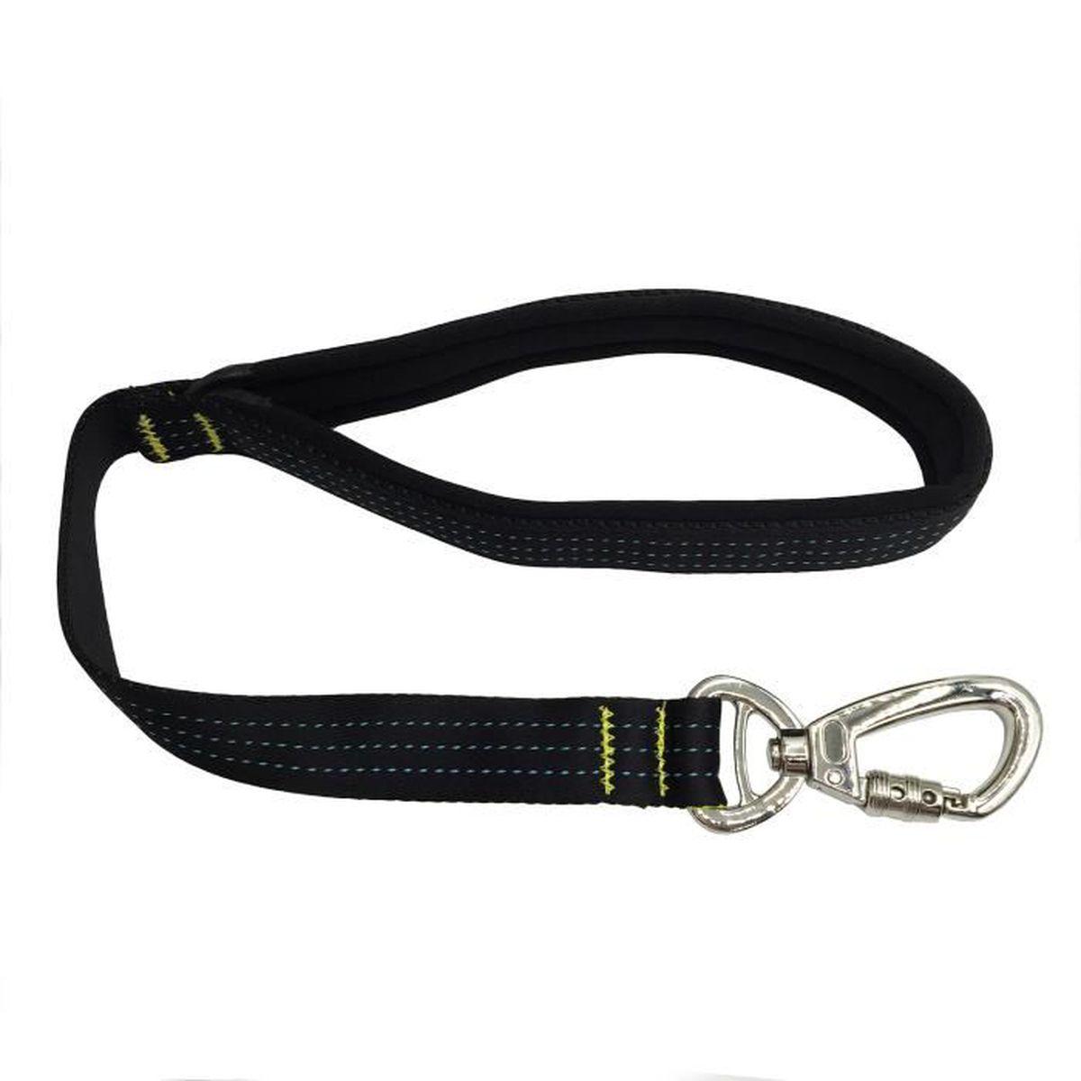 Laisse courte en corde nylon avec poign e de commande - Laisse corde gros chien ...