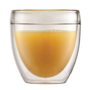 BODUM PAVINA OUTDOOR Set 2 verres en plastique double paroi 0.25 l Transparent