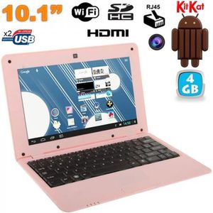 NETBOOK Mini PC Android netbook 10 pouces WiFi 4 Go Rose