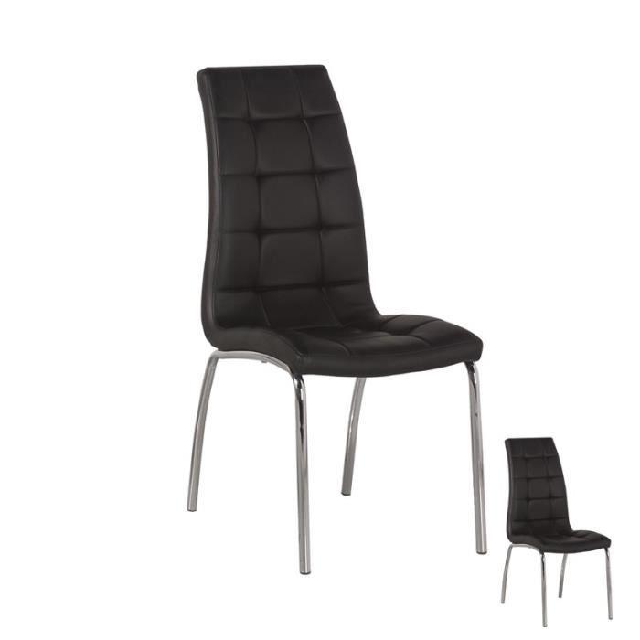 Achat chaise noir pas cher