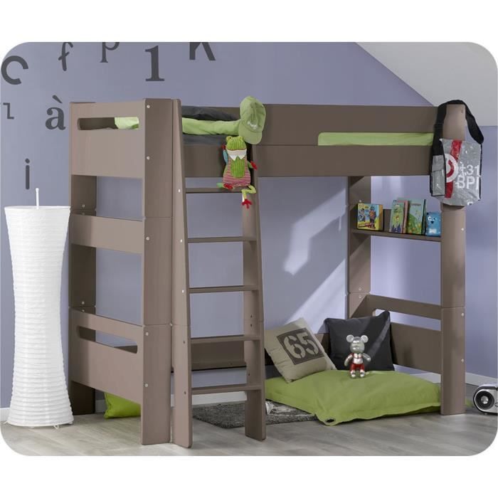 Lit mezzanine enfant wax lin achat vente lit mezzanine lit mezzanine enfa - Lit 1 place mezzanine ...