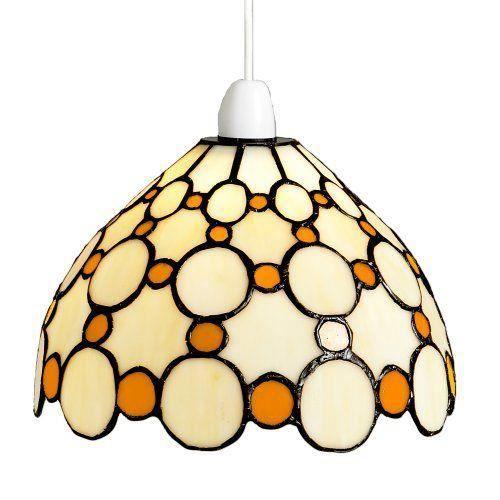 lighting web co abat jour d me suspendu en verre style bistrot motif petits cercles marron beige. Black Bedroom Furniture Sets. Home Design Ideas