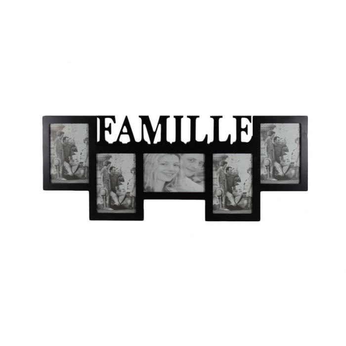 cadre 5 photos famille achat vente tableau toile cdiscount. Black Bedroom Furniture Sets. Home Design Ideas