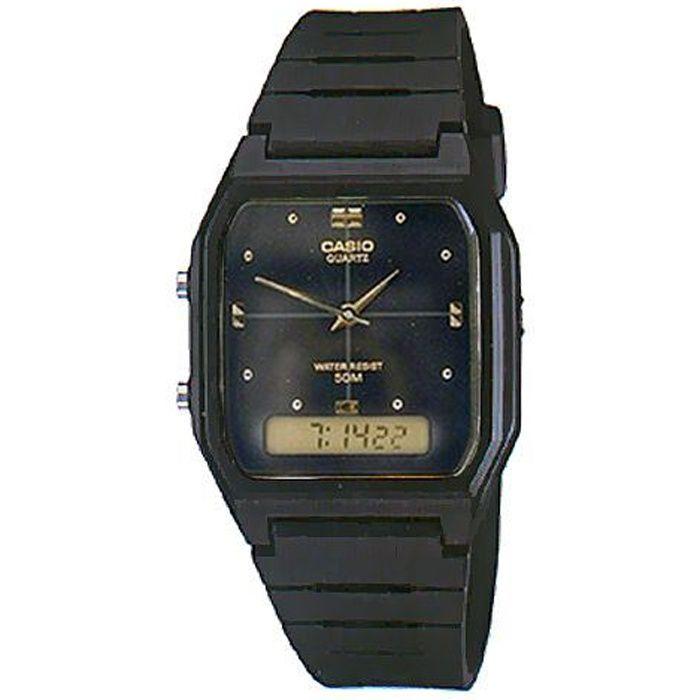 casio aw 48h 1a montre homme etanche 50m achat vente montre cdiscount. Black Bedroom Furniture Sets. Home Design Ideas