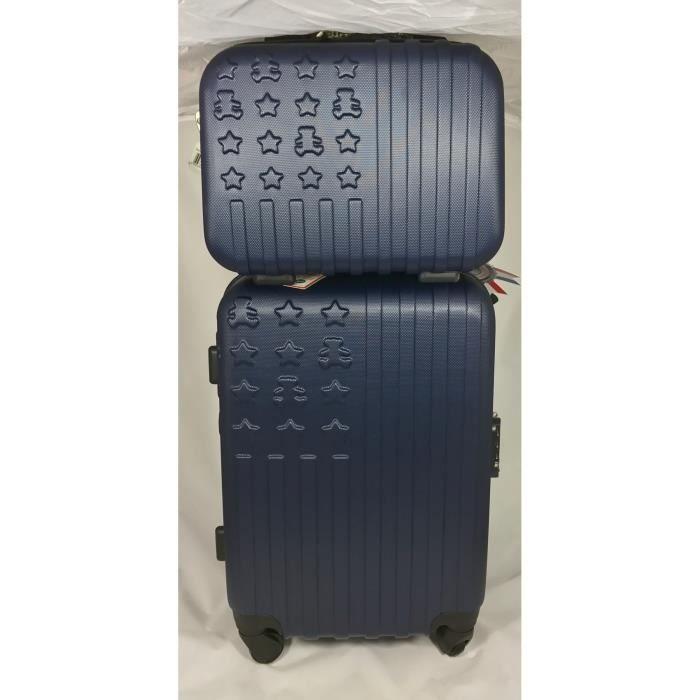 valise cabine 50 cm vanity lulu castagnette bleu achat vente set de valises 2009813522073. Black Bedroom Furniture Sets. Home Design Ideas