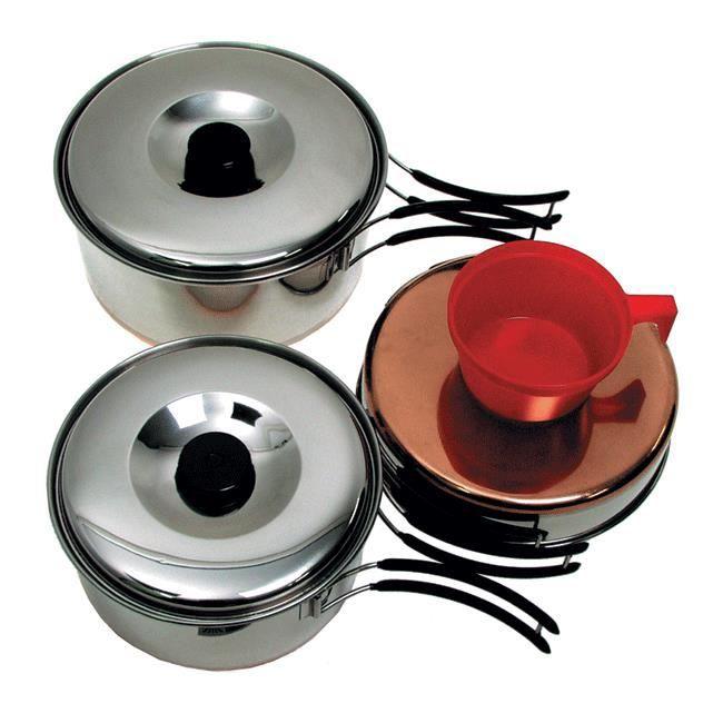 Ustensiles batterie de cuisine camping 18 x 18 prix for Batterie de cuisine en pierre pas cher