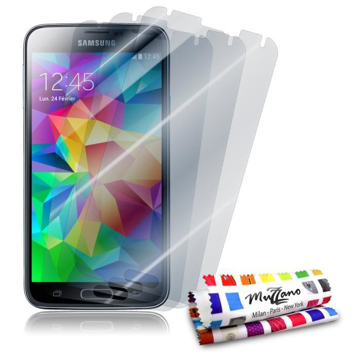 3 protections cran samsung galaxy s5 achat film protect. Black Bedroom Furniture Sets. Home Design Ideas