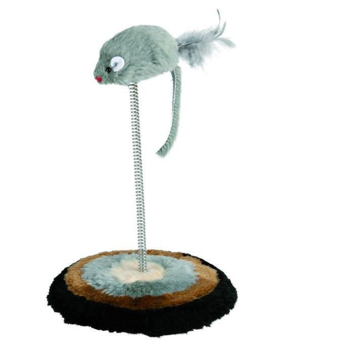 trixie souris sur ressort jouet pour chat achat vente jouet souris sur ressort prix cass. Black Bedroom Furniture Sets. Home Design Ideas