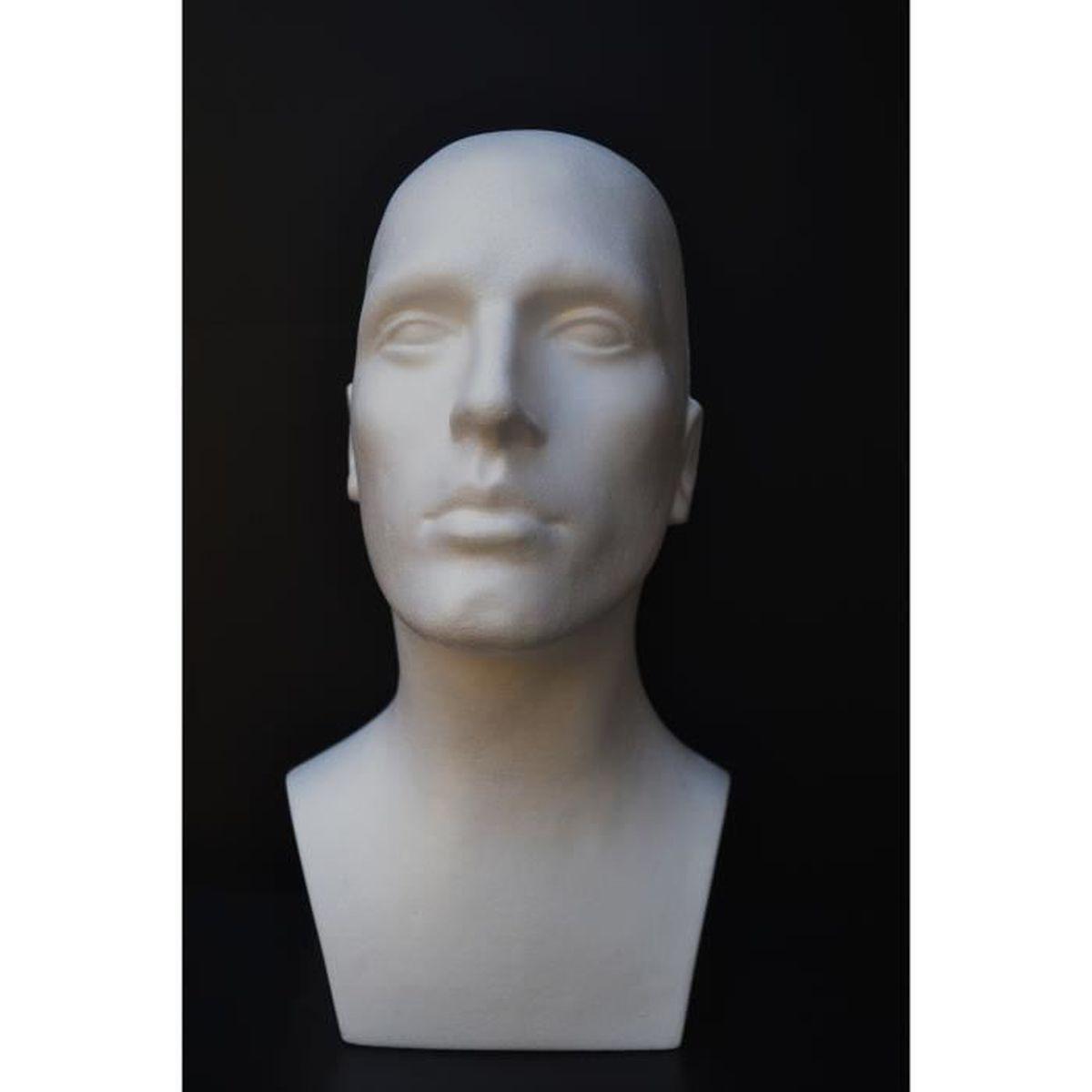 tete de mannequin homme pour casque ou perruque achat vente buste mannequin cdiscount. Black Bedroom Furniture Sets. Home Design Ideas