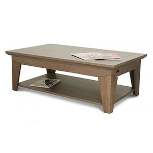 Table basse gris bois massif achat vente pas cher - Table chene moderne ...