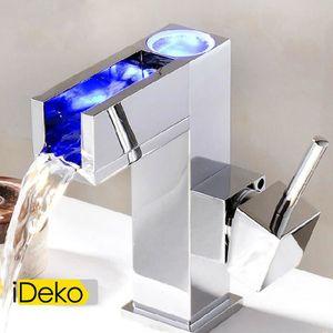 robinet mitigeur salle de bain cascade a led achat vente robinet mitigeur salle de bain. Black Bedroom Furniture Sets. Home Design Ideas