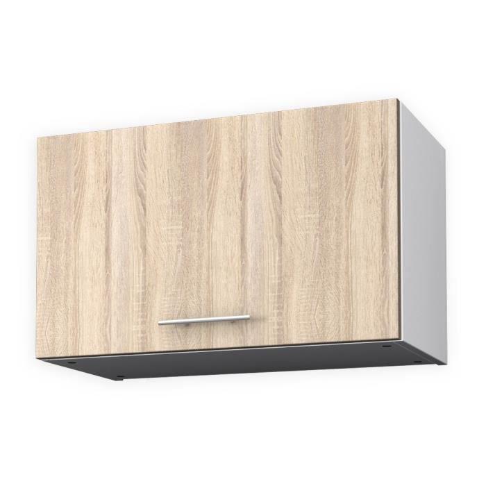 obi meuble haut hotte l 60 cm d cor ch ne clair achat vente elements bas obi meuble haut. Black Bedroom Furniture Sets. Home Design Ideas
