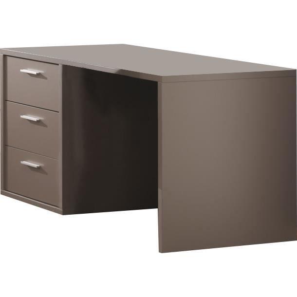 Bureau pour junior moderne coloris gris basalte achat for Meuble bureau junior