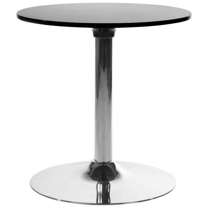 Table d 39 appoint 39 saturn 39 noire design en abs po achat - Table d appoint noire ...