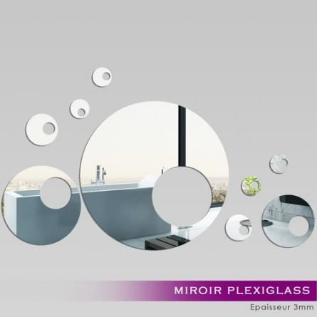 Miroir d coratif qui s 39 applique sur toutes surfaces lisses for Miroir qui s allume