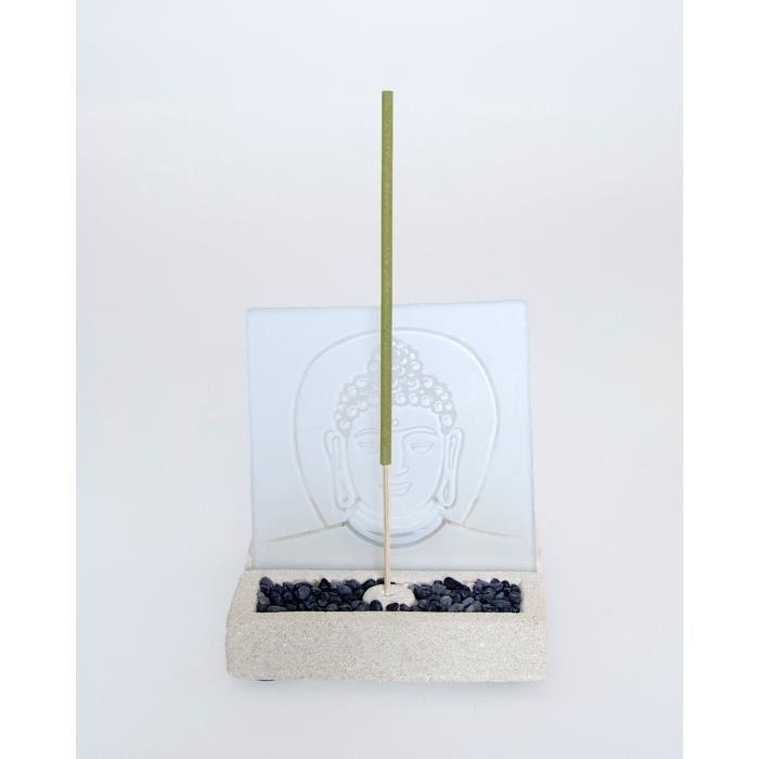 Porte encens bouddha objet d coratif pierre verre for Objet decoratifs