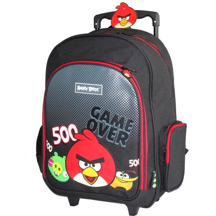 Angry birds trolley noir rouge 500 sac a dos noir achat vente cartable 5701359725075 - Angry birds rouge ...