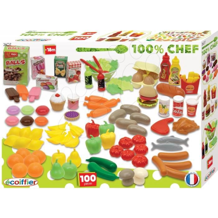 Ecoiffier 2607 100 chef coffret 100 pi ces de - Cuisine ecoiffier 18 mois ...