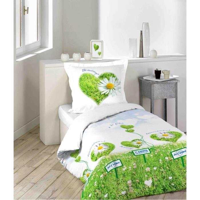 linge de lit parure de drap l 39 amour est dans le pr achat vente parure de drap cdiscount. Black Bedroom Furniture Sets. Home Design Ideas